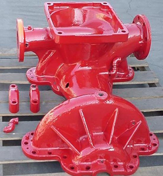 Red Powder Coated Pump